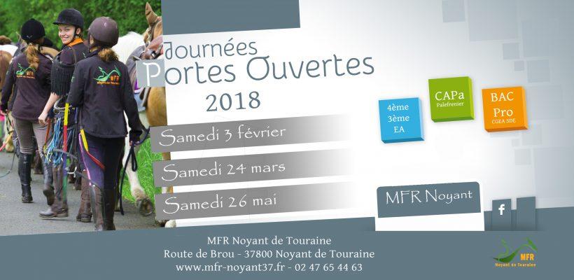 Portes Ouvertes : samedi 26 mai 2018